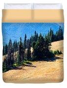Conifer Clusters Duvet Cover