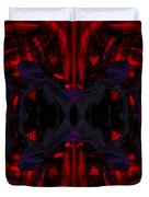 Conjoint - Crimson And Royal. Duvet Cover by Christopher Gaston