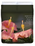 Consider The Lilies How They Grow Duvet Cover