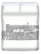 Constantinople, Procession At City Duvet Cover