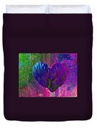 Contours Of The Heart Duvet Cover