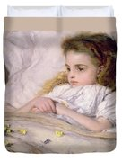 Convalescent Duvet Cover by Frank Holl