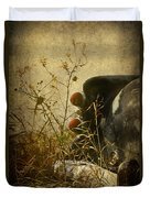 Conversation Dirt Road Duvet Cover by Empty Wall