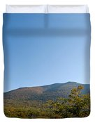 Conway Scenic Railroad - Short Duvet Cover by Geoffrey Bolte