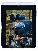 Cook Fire Duvet Cover