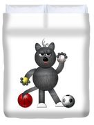 Cool Alley Cat Athlete Duvet Cover by Rose Santuci-Sofranko