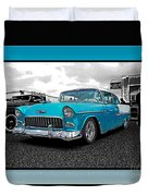 Cool Blue Chevy Duvet Cover