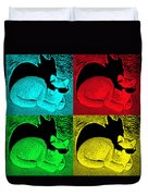 Cool Cat Pop Art Duvet Cover