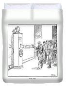 Coolidge Cartoon, 1925 Duvet Cover
