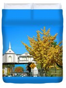 Cooper Young Trestle Looking North Duvet Cover