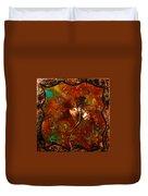 Copper Flower Duvet Cover