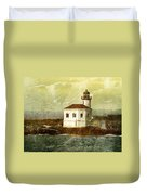 Coquille River Lighthouse Duvet Cover