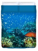 Coral Reef In Thailand Duvet Cover