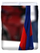 Corner Flag Of Camp Nou Duvet Cover