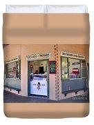 Corner Ice Cream Store Duvet Cover