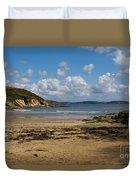 Cornish Seascape Maenporth Duvet Cover