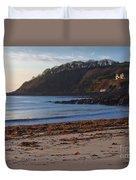Cornish Seascape Meanporth Duvet Cover