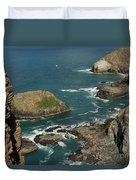 Cornish Seascape St Agnes  Duvet Cover