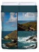 Cornwall North Coast Duvet Cover by Brian Roscorla