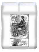 Correct Writing Position Duvet Cover