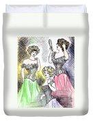 Corset Ladies Duvet Cover