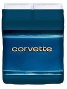 Corvette Badge Duvet Cover