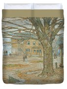 Cos Cob In November Duvet Cover by Childe Hassam
