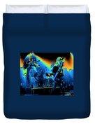 Cosmic Derringer Electrify Spokane Duvet Cover