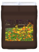 Cosmos Flowers Duvet Cover