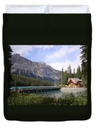 Crossing Emerald Lake Bridge - Yoho Nat. Park, Canada Duvet Cover