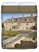 Cotswold Village Of Lower Slaughter Duvet Cover