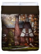 Cottage - Westfield Nj - A Place To Retire Duvet Cover by Mike Savad