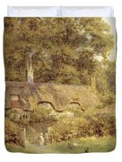 Cottage At Farringford Isle Of Wight Duvet Cover