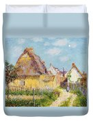 Cottage At Le Vaudreuil Duvet Cover by Gustave Loiseau