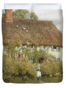 Cottage At West Horsley Surrey Duvet Cover