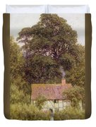 Cottage Near Brook  Duvet Cover