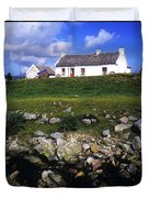Cottage On Achill Island, County Mayo Duvet Cover by The Irish Image Collection