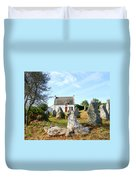 Cottage With Standing Stones Duvet Cover