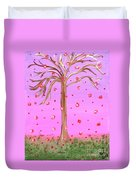 Cotton Candy Sky Wishing Tree Duvet Cover