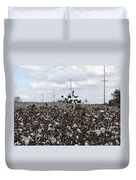 Cotton Ready For Harvest In Alabama Duvet Cover