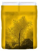 Cottonwood Tree April 2012 In Gold Duvet Cover