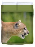 Cougar Profile Duvet Cover