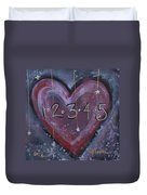 Counting Heart Duvet Cover