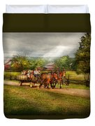 Country - Horse - Life's Pleasures Duvet Cover