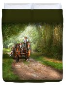 Country - Horse - The Hay Ride  Duvet Cover