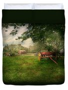Country - The Crops Almost Ready  Duvet Cover