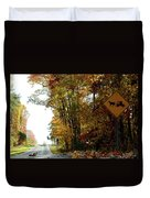 Country Buggie Sign Duvet Cover
