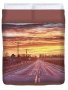 Country Road Sunrise Duvet Cover
