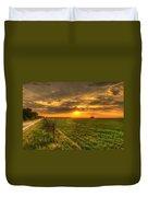 Country Roads Sunset Duvet Cover
