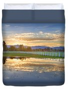 Country Sunset Reflection Duvet Cover